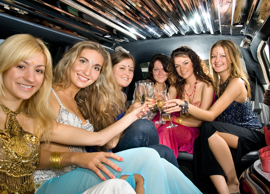 Group of women at a hen's night.